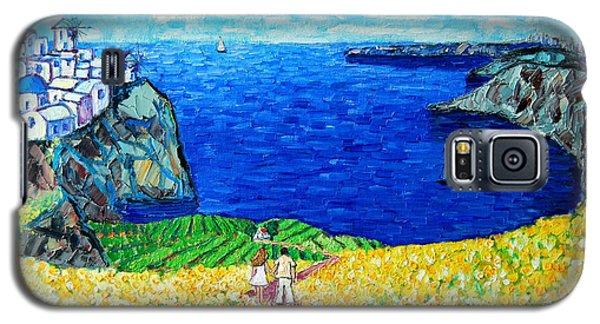 Santorini Honeymoon Galaxy S5 Case