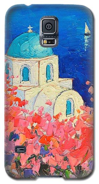 Santorini Impression - Full Bloom In Santorini Greece Galaxy S5 Case