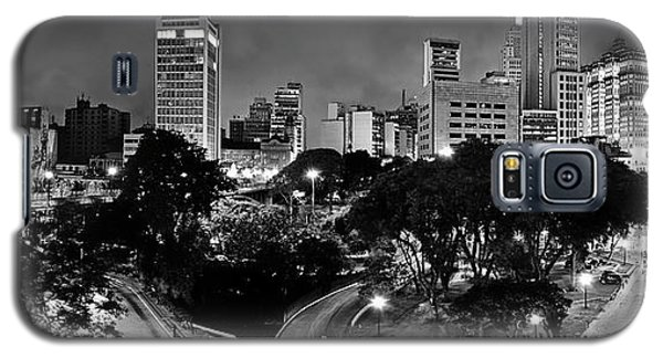 Sao Paulo Downtown At Night In Black And White - Correio Square Galaxy S5 Case