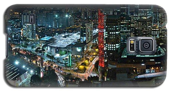 Sao Paulo Skyline Modern Corporate Districts Brooklin Morumbi Chacara Santo Antonio Galaxy S5 Case