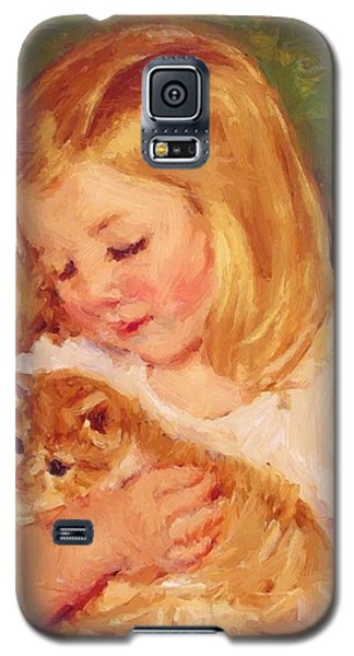 Sara Holding A Cat Galaxy S5 Case