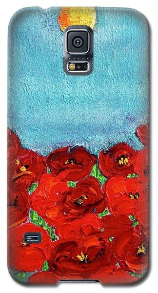 Sarah's Poppies Galaxy S5 Case