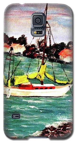 Sarasota Bay Sailboat Galaxy S5 Case by Angela Murray