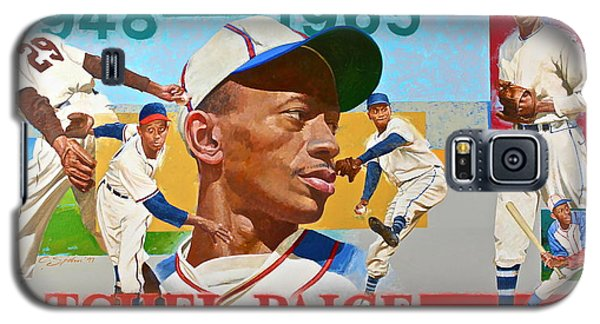 Galaxy S5 Case featuring the painting Satchel Paige by Cliff Spohn