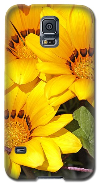 Galaxy S5 Case featuring the photograph Satin Yellow Florals by E Faithe Lester
