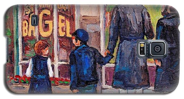 Satmar Rabbis Summer Stroll St Viateur Street Scene Canadian Artist C Spandau Jewish Neighborhoods   Galaxy S5 Case