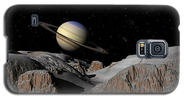 Saturn From The Moon Dione Galaxy S5 Case