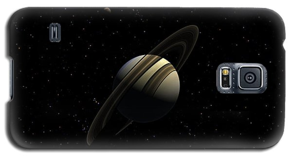 Saturn With Titan Galaxy S5 Case