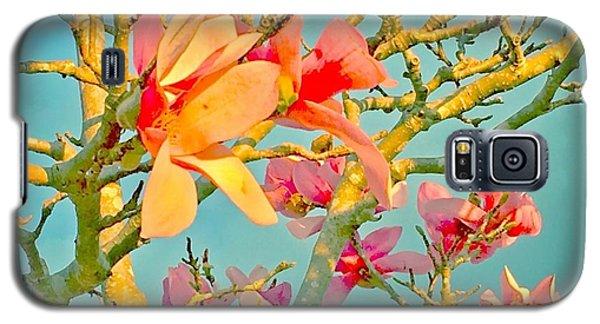 Saucer Magnolia Galaxy S5 Case