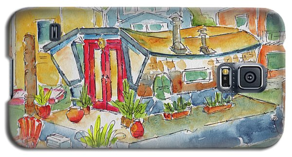 Galaxy S5 Case featuring the painting Sausalito Houseboat by Pat Katz