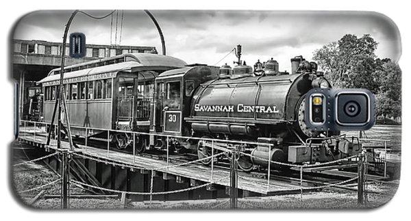 Savannah Central Steam Engine On Turn Table Galaxy S5 Case by Scott Hansen