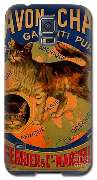 Savon Le Chat Antique French Poster Galaxy S5 Case