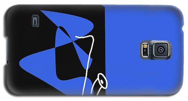 Galaxy S5 Case featuring the digital art Saxophone In Blue by Jazz DaBri