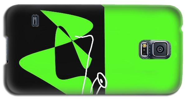 Galaxy S5 Case featuring the digital art Saxophone In Green by Jazz DaBri