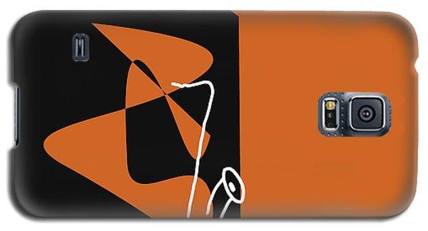 Galaxy S5 Case featuring the digital art Saxophone In Orange by Jazz DaBri
