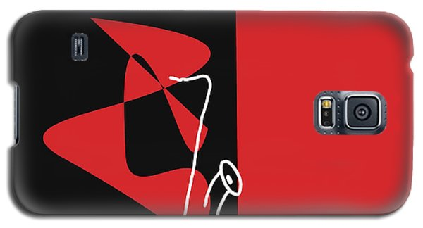 Saxophone In Red Galaxy S5 Case