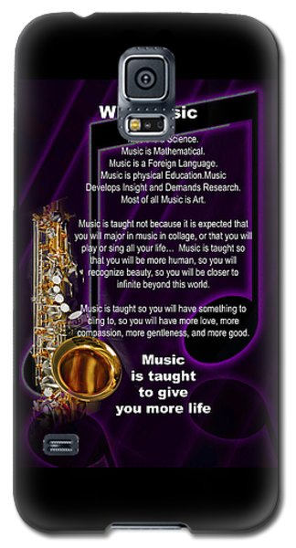 Saxophone Photographs Or Pictures For T-shirts Why Music 4819.02 Galaxy S5 Case