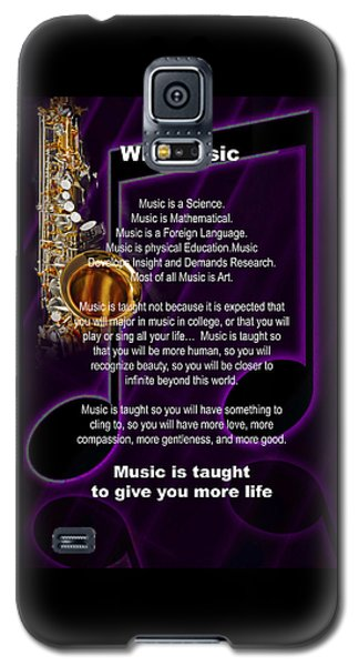Saxophone Photograph Why Music For T-shirts Posters 4819.02 Galaxy S5 Case