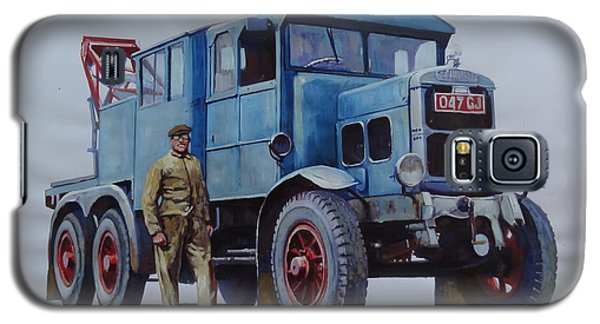 Galaxy S5 Case featuring the painting Scammell Wrecker. by Mike Jeffries