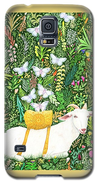 Galaxy S5 Case featuring the painting Scapegoat Healing by Lise Winne