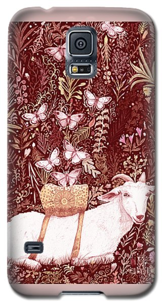 Galaxy S5 Case featuring the digital art Scapegoat Healing Tapestry Print by Lise Winne
