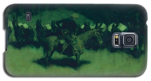 Scare In A Pack Train Galaxy S5 Case by Frederic Remington