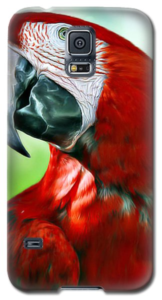 Scarlet Macaw Galaxy S5 Case by Don Olea