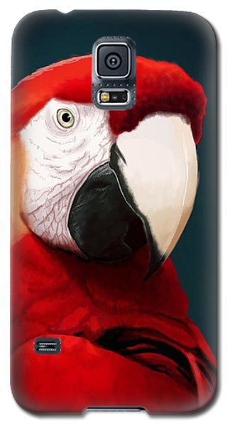 Parrot Galaxy S5 Case - Scarlet Macaw by KC Gillies