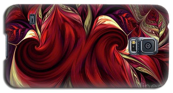 Galaxy S5 Case featuring the digital art Scarlet Red by Deborah Benoit