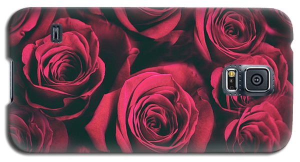 Galaxy S5 Case featuring the photograph Scarlet Roses by Jessica Jenney