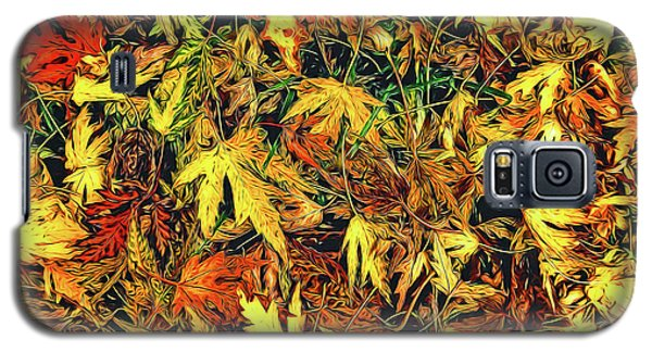Scattered Autumn Leaves Galaxy S5 Case