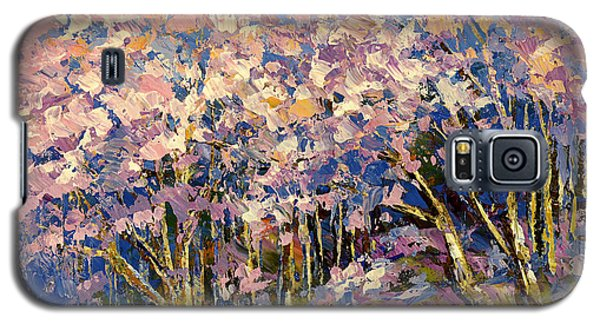 Galaxy S5 Case featuring the painting Scented Blooms by Tatiana Iliina