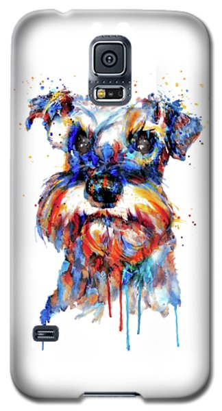 Schnauzer Head Galaxy S5 Case by Marian Voicu