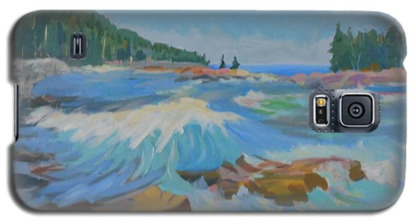 Galaxy S5 Case featuring the painting Schoodic Inlet by Francine Frank