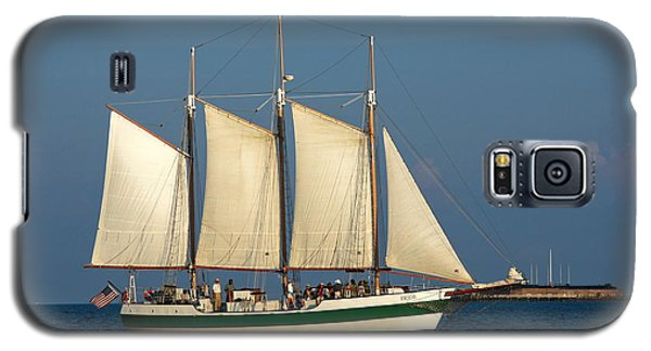 Schooner By Fort Sumter Galaxy S5 Case by Sally Weigand