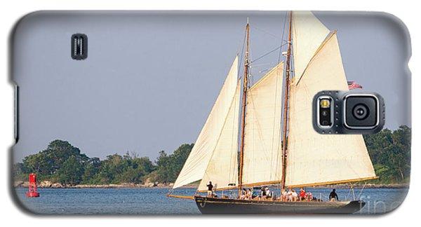 Galaxy S5 Case featuring the photograph Schooner Cruise, Casco Bay, South Portland, Maine  -86696 by John Bald