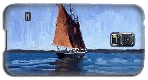 Galaxy S5 Case - Schooner Roseway In Gloucester Harbor by Melissa Abbott