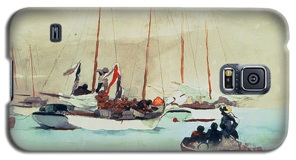 Boat Galaxy S5 Case - Schooners At Anchor In Key West by Winslow Homer