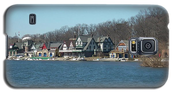 Galaxy S5 Case featuring the photograph Schuylkill River - Boathouse Row In Philadelphia by Bill Cannon
