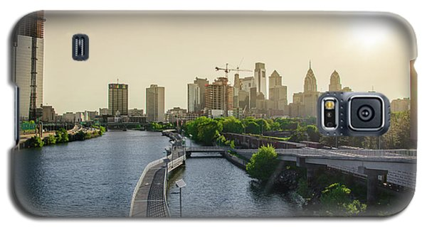 Galaxy S5 Case featuring the photograph Schuylkill River Walk At Sunrise by Bill Cannon