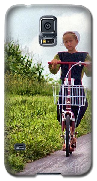 Galaxy S5 Case featuring the photograph Scootin' by Polly Peacock