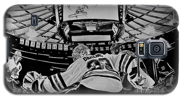 Galaxy S5 Case featuring the drawing Scott Darling - First Nhl Shutout by Melissa Goodrich