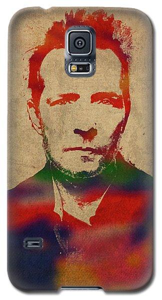 Scott Weiland Stone Temple Pilots Watercolor Portrait Galaxy S5 Case