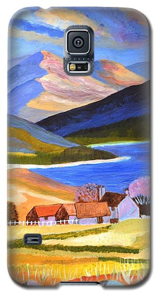 Galaxy S5 Case featuring the painting Scottish Highlands 2 by Magdalena Frohnsdorff