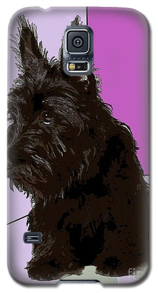 Scottish Terrier Galaxy S5 Case by George Pedro