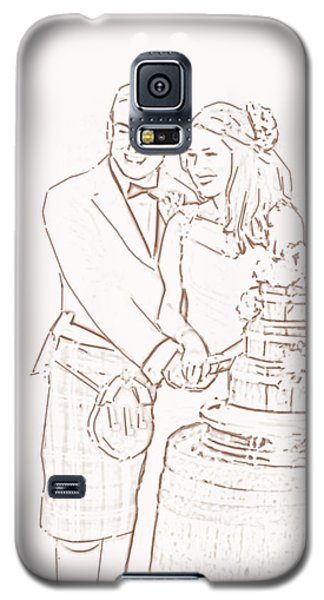 Galaxy S5 Case featuring the drawing Scottish Wedding by Olimpia - Hinamatsuri Barbu