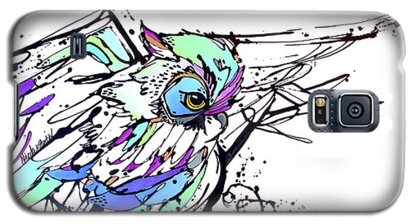 Galaxy S5 Case featuring the painting Scouting by Nicole Gaitan