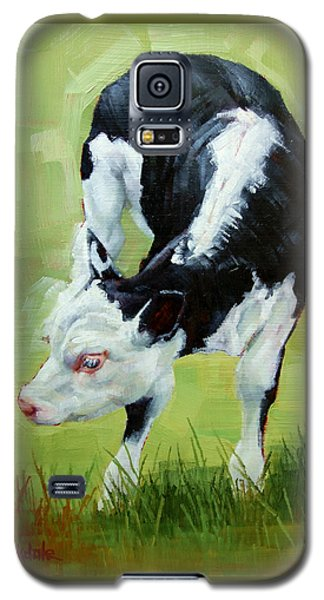 Scratching Calf Galaxy S5 Case by Margaret Stockdale