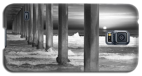 Scripps Pier At Sunset - Black And White Galaxy S5 Case