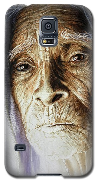 Galaxy S5 Case featuring the painting Scripts Of Ancestral Light  by J- J- Espinoza